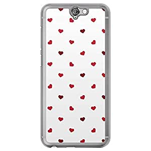 Loud Universe HTC One A9 Love Valentine Printing Files Valentine 59 Printed Transparent Edge Case - Red/White