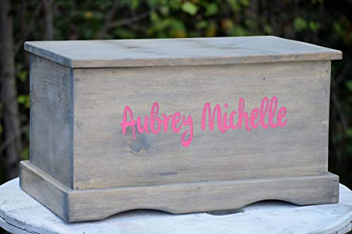 - Laser Engraved Personalized Kids Toy Box - Engraved Toy Box - Personalized Toy Box - Children's Toy Box - Kids Memory Box - Gift for Kids - Wood Toy Box - Treasure Chest