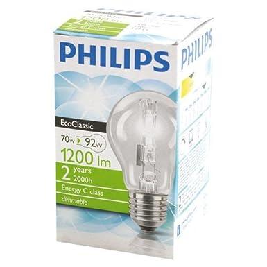 X 10 GLS 70w = 92w GLS A60 ES E27 Edison Screw Halogen EcoClassic A55 Energy Saving Dimmable Light Bulb 220-240v