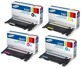 Yellow Magenta Cyan OEM Black Samsung CLX-3180 Toner Cartridge Set