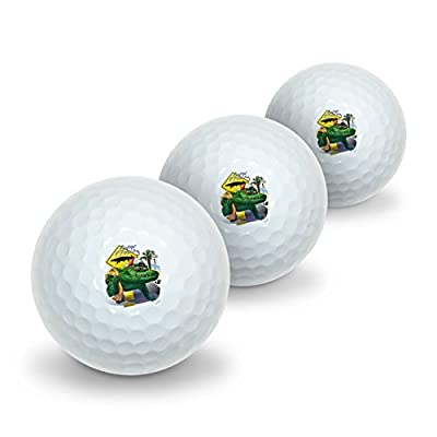 Graphics and More Alligator Gator Crossing Sunglasses Vacation Novelty Golf Balls 3 Pack