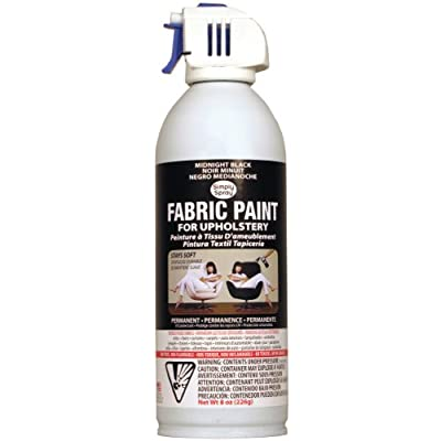 Deval Products Upholstery Spray Fabric Paint, 8-Ounce, Midnight Black by DEVAL PRODUCTS