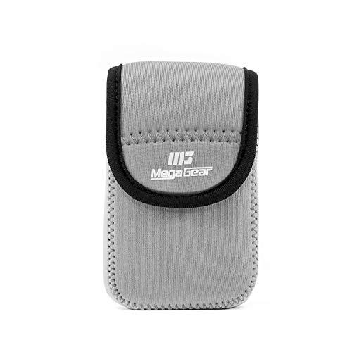 (Megagear MG651 Ultra Light Neoprene Camera Case Bag with Carabiner for Canon PowerShot G9 X Digital Camera, Grey)