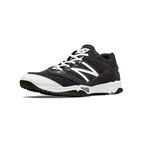 New Balance Men's T4040V3 Turf Baseball Shoe, Black/White, 10 D US