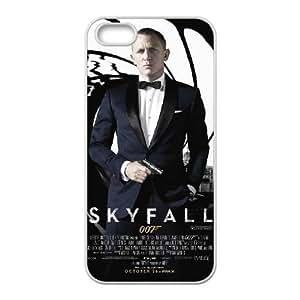 iPhone 5,5S Phone case White 007 James Bond ZAC1262180