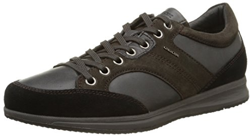 Uomo U Sneaker Alte Avery Geox Mud Marrone A Black XaRaq