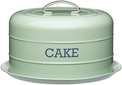 Kitchencraft Living Nostalgia Airtight Cake Storage Tin Cake Dome 28 5 X 18 Cm English Sage Green Amazon Com Au Kitchen
