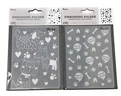Darice Embossing Folder Bundle: Dogs and Dog Miscellany Plates, Each 4.25