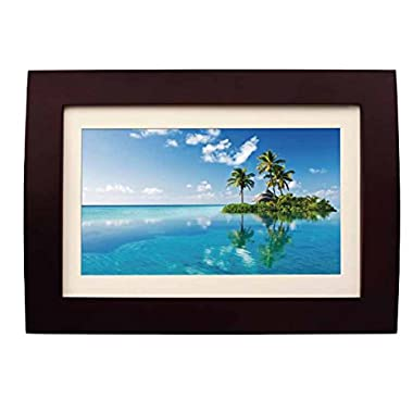 Sylvania SDPF1089 10-Inch LED Multimedia Wood Finished Digital Photo Frame with Remote Control and 2 GB Built in Memory (Brown)