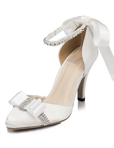 Blanco Boda Noche boda 3 3 3in Marfil Tacones ZQ 3 Tacones ivory Vestido 3in 3 de white 4in Mujer Zapatos y 4in Fiesta WzAWPXSp