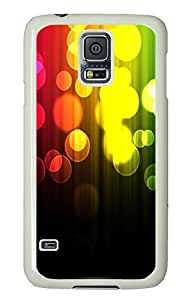 Samsung Galaxy S5 popular covers Abstract Light Spots 2 PC White Custom Samsung Galaxy S5 Case Cover