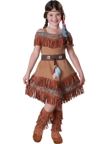 InCharacter Costumes Girl's Indian Maiden Costume, Tan, 10 -
