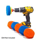 Scrubza Bathroom & Kitchen Cleaning Drill Brush Accessory - All Purpose Power Scrubber for Grout, Floor, Tub, Shower, and Tile Surfaces - Even Burned Pots and Stove Tops!