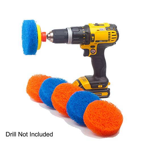 Scrubza Bathroom amp Kitchen Cleaning Drill Brush Accessory  All Purpose Power Scrubber for Grout Floor Tub Shower and Tile Surfaces  Even Burned Pots and Stove Tops