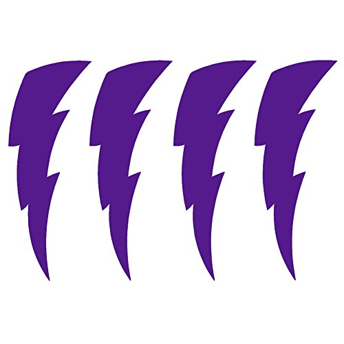 LIGHTNING BOLTS 4 PACK V2 Vinyl Decal by stickerdad - size: 3