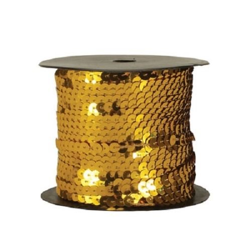 Good Crafted Sewing Trim Embellishments Sequin Trim 6mm Sequin Strand Trim 10yds Metalic GOLD Sequin Trim spangles sew on Trim10yd Craft Supplies Diy Decoration
