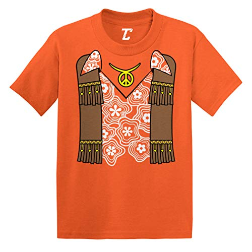 Hippy Costume - Groovy Righteous Cool Infant/Toddler Cotton Jersey T-Shirt (Orange, 5T) ()