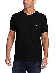 U.S. Polo Assn. Men's V-Neck Short Sleeve T-Shirt, Engine Red, Small