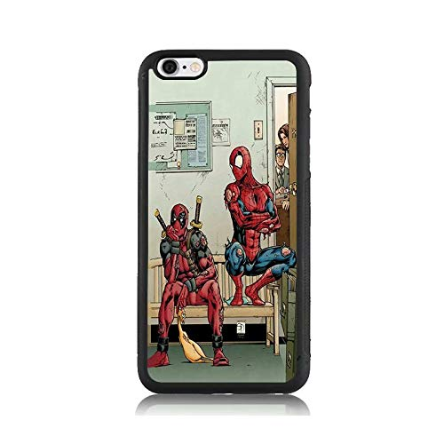 Cute Deadpool Spiderman Print Case for Apple iPhone 6s, Shock-Absorption Soft Bumper + Hard Back Cover Anti-Scratch Drop Protection for iPhone -