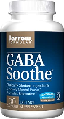 Jarrow Formulas Gaba Soothe, Promotes Relaxation, 30 Capsules