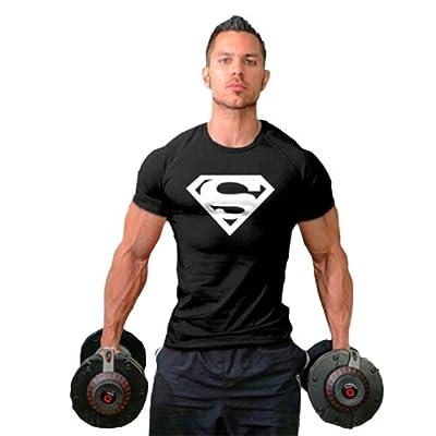 TECOFFER 2016 New Men's T-shirt Fitness T-shirt Gym Muscle Bodybuilding T-shirt