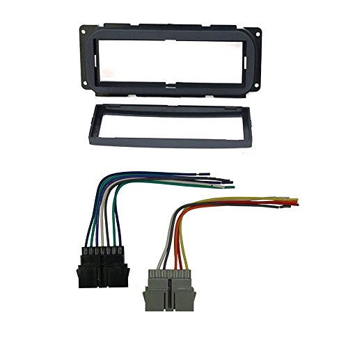 CAR STEREO DASH INSTALL MOUNTING KIT WIRE HARNESS FOR DODGE JEEP &CHRYSLER (Dodge Car Stereo Kit compare prices)