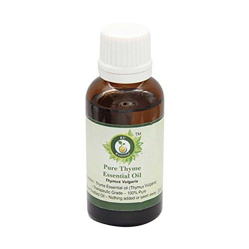 R V Essential Tomillo pura 15ml Aceite Esencial (0.507 oz)- Thymus vulgaris (100% puro y natural de Grado Terapéutico) Pure...