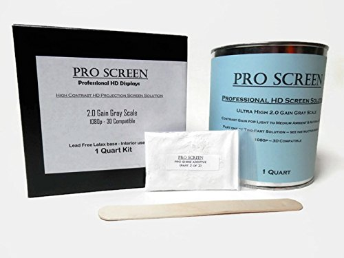 Pro Screen HD Projection / Projector Screen Paint 1080P Full HD Quality - 1 Quart Kit by Pro Screen