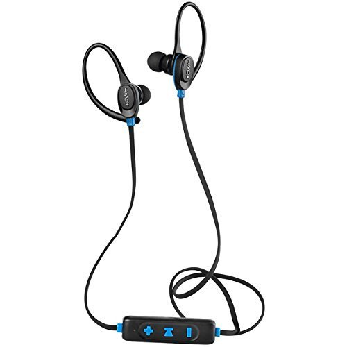 HMDX Craze Active Sport Bluetooth Wireless Earbuds, Sweatproof earphone, Ear hook clip, Hands-Free Calling w/Mic Controls, 6 Hours Playtime, Ultralight, Workout, Gym, Running (Black) (Free Ear Hands Clip Bluetooth)
