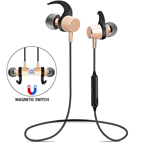 Wireless Headphones Bluetooth Earphones Waterproof HiFi Magnetic Switch Headsets In Ear Design Microphone Noise Cancelling Long Battery Life Sports Running Workout Headphones