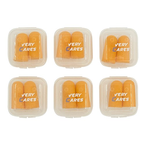 Every Cares Ultra Soft Foam Ear Plugs, 6 Pairs - 36dB Highest NRR, Comfortable Ear Plugs for Sleeping, Snoring, Work, Travel and Loud Events, with Case