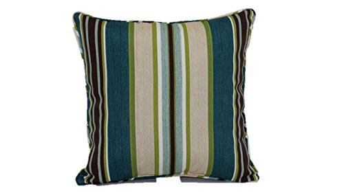 Brentwood Originals 35360 Indoor/Outdoor Toss Pillow, 17-Inch, Imperial Stripe Grotto (Furniture Brentwood Patio)