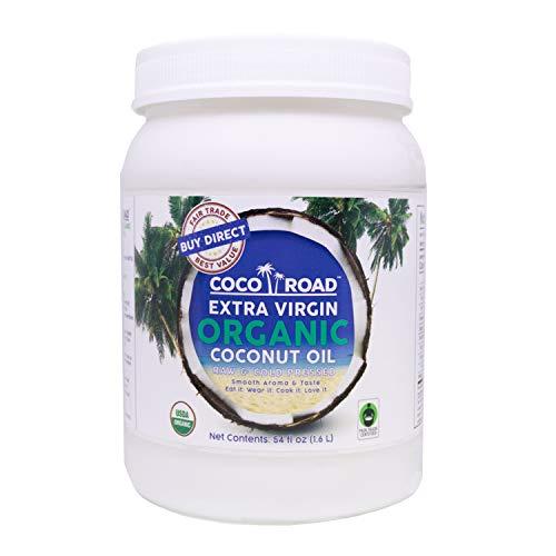 Coco Road Organic & Fair Trade Virgin Coconut Oil, 54 Fl Oz