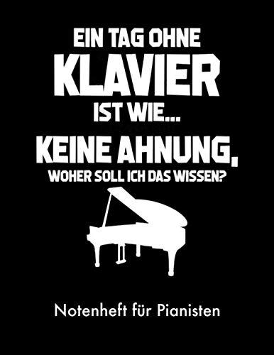 Notenheft für Pianisten: Mit Notenlinien und Referenz Notenschrift für Pianist Klavierspieler-in Pianist-in Piano ca. A4 (8,5x11in) Lineatur 14 ohne Hilfslinien (German Edition) ()