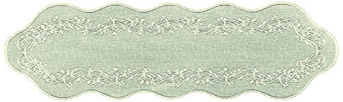 Heritage Lace Sheer Divine Table Runner, 14 by 72-Inch, ()