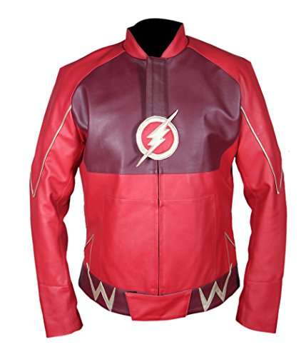 Flesh & Hide F&H Boy's Flash Barry Allen Grant Gustin Jacket S Red by Flesh & Hide