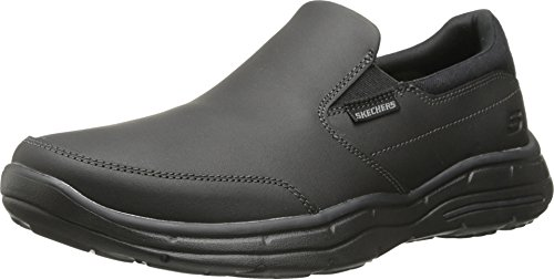 Skechers USA Men's Glides Calculous Slip-On Loafer,Black,11 M US