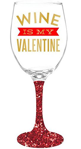 Amazon Com Wine Is My Valentine Valentine S Day Wine Glass