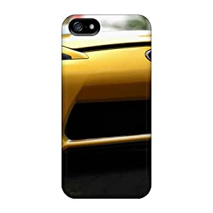 New Premium Flip Case Cover Yellow Lexus Lfa Skin Case For Iphone 5/5s by runtopwell
