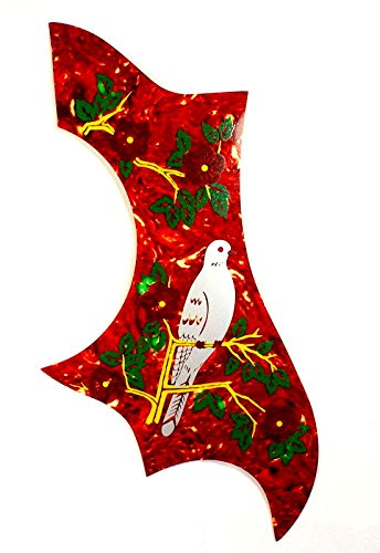 (B50) Dove Style Acoustic Guitar Pickguard Self-adhesive ,Red Tortoise ,Premium mLaval