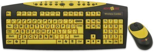AbleNet Keys-U-See Wireless Large Print English USB Keyboard