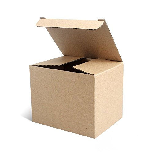Eligara Packing Boxes Set of 10 Boxes (544 inches) Recycle Corrugated Cardboard Box, Easy to Assemble & Reusable Crafting Cupcake Boxes Small Gift Boxes for Packing.