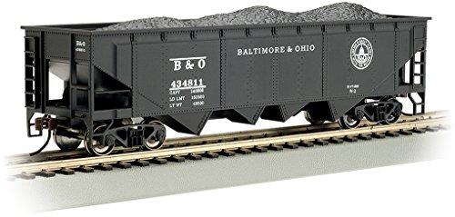 Bachmann 40' Quad Hopper Car-B&O #434811 (Capitol Dome) -HO Scale Hobby Train Freight, Prototypical Black