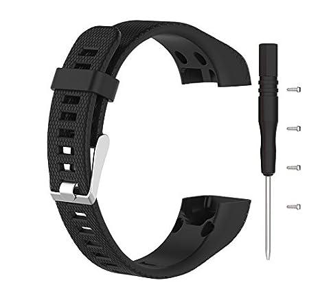 Dingtool Silikon Band Armband Ersatz Armband Ersatzarmbänder mit Werkzeug Kompatibel für Garmin Vivosmart HR Plus