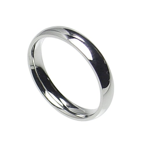 4mm Stainless Steel Comfort Fit Plain Wedding Band Ring Size 4-12; Comes With Free Gift Box (10)
