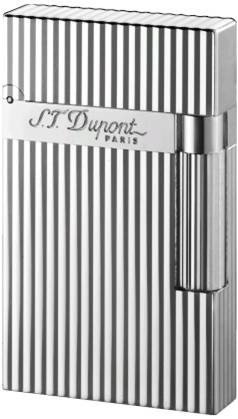 S.T. Dupont Ligne 2 Montparnasse Vertical Lines Lighter - Silver 16817 - Line 2 Cigar Lighter