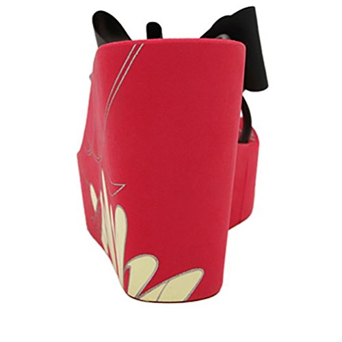 SHANGXIAN de las mujeres biestables sandalia de la cuña Red