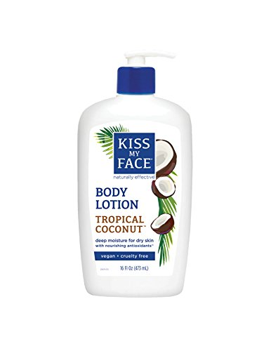 Kiss My Face Body Lotion, Tropical Coconut, 16 Fluid Ounce