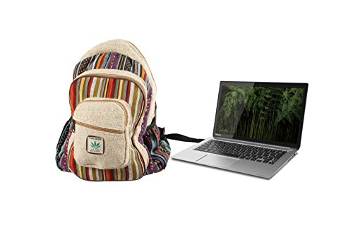 Maha Bodhi All Natural Handmade Large Multi Pocket Hemp Backpack by Maha Bodhi (Image #5)'