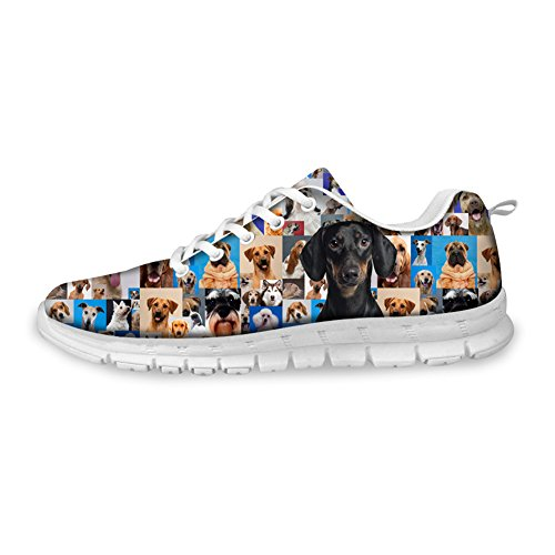 FOR Pug amp; Cool U Cute Running Shoes Breathable B5 Women's Print DESIGNS Papillon Mesh Men's 4AZ4wqrtg